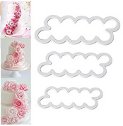HENGSONG Sugarcraft Cutters 3PCS 3D Rose Petal Cake Cutter Fondant Cookie Cutter Decor Tool DIY Decorating Mould