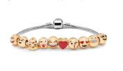 Emoji Charm Bracelet 10 Bead 18k Gold Plated SALE!