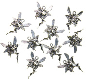AVBeads Fairy Nymph Antique Silver Charms, 100 Piece