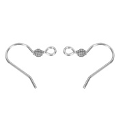VALYRIA 50pcs Hypo Allergenic Stainless Steel Earring Hooks,15mmx15mm