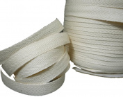 Twill Tape 1.3cm - 2.5cm Size 100% Cotton Black and Natural Colour 100 & 50 Yard Roll