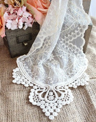 Lace Table Runner in Ivory - 30cm Wide x 190cm Long