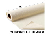 Mybecca 210ml Natural Cotton Canvas Roll,(150cm Wide) By the Yard