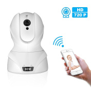 BEW 720P Wireless IP Surveillance Camera with Infrared Night Vision, White