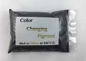 Temperature Activated Thermochromic Bi-Colour Powder Pigment BLACK to YELLOW changing at 88F/31C