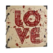 "FaCraft Scrapbook with ""LOVE"" Printed Vintage DIY Photo Album"