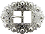 BS9307-SP Bright Silver Cart Berry Centerbar Buckle