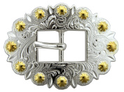BS9307-SPGP Bright Silver and Gold Cart Berry Centerbar Buckle