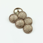RECHERE 24PCS Vintage Metal Floral Pattern Round Shank Buttons Craft For DIYS Sewings Embellishment