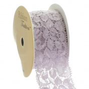 Ribbon Traditions 3.8cm Stretch Elastic Lace Trim Taupe 5 yards