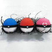 Bath Bomb Gift Set–3 Pokeball Surprise Bath Bombs Extra Large 190ml each-The Island Bath & Body-Made In USA– Shea & Cocoa Butter