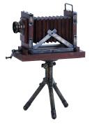 Wood Metal Camera 43cm H, 28cm W Unique Home Accents