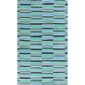 1.5m x 2.4m Gridded Lines with Different Accents of Light Blue, Green and Grey
