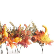 Factory Direct Craft Group of 12 Assorted Artificial Petite Fall Country Harvest Picks for Home and Seasonal Decor