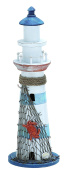Wood Lighthouse Accented with Marine Theme Details