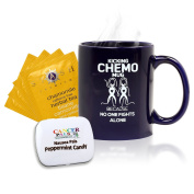 Cancer Patient Gift and Chemotherapy Gift Set-Kicking Chemo Mug Deluxe Set