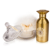 Shelley Kyle Signature Shimmer Powder Talc Free Set with Crystal Puff Dish