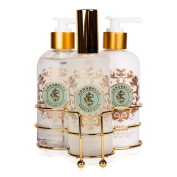Shelley Kyle Annabelle Three piece caddy with Lotion, Liquid Hand Soap and Ro...