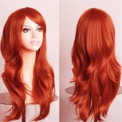 """Anime Cosplay Synthetic Wig 11 Colours Japanese Kanekalon Heat Resistant Fibre Full Wig with Bangs Long Layered Curly Wavy Trendy 23"""" / 58cm for Women Girls Lady Fashion and Beauty"""