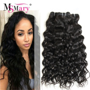 Ms Mary Hair Brazilian Water Wave Hair 3 bundles Mixed Length 22 24 70cm Grade 7a Hair braiding Brazilian Hair Tangle free 1b Natural Black Colour