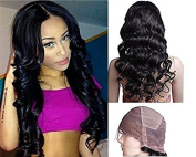 Mike & Mary Full Lace Wigs Indian Remy Human Hair Body Wave For Black Women