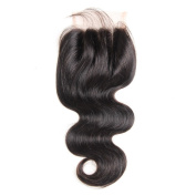 Brazilian Virgin Hair Body Wave Top Lace Closure Bleached Knots with Baby Hair 3 Way Part Hand-Sewn Closure