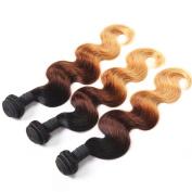 Omber Indian Virgin Hair Body Wave 3 Bundles IUEENLY Hair 7 A Unprocessed Omber Virgin Hair Weave Three Tone