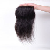 Free Part Straight Lace Closure Bleached Knots Brazilian 10cm x 10cm Remy Human Hair Accessions 20cm