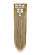 FIRSTLIKE 160g 60cm Ash Blonde Straight Double Weft Clip In Hair Extensions Thick Full Head Long Straight Curly 7 Pieces 16 Clips Black Brown Blonde Colours Soft Silky Dress For Girls Beauty