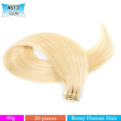 50cm - 60cm Tape in Premium Remy Human Hair Extensions Colour#613 Straight Human Hair 20pcs/lot
