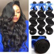 GEFINE Hair Brazilian Body Wave Virgin Hair Extensions 100% Hair Bundles Natural Colour Remy Curly Hair 300g 18 20 60cm
