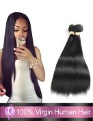 """Straight Hair Extension Brazilian Virgin Human Hair 3 Bundles 100% 7a Unprocessed Virgin Hair Natural Black Colour , 16""""18""""20"""" inch"""