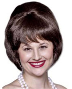 Characters Beehive Synthetic Wig - Brown