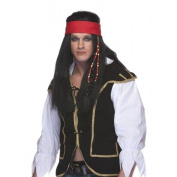 Characters Pirate W/Headband Synthetic Wig - Black