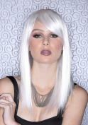 Blush Fortune Fantasy Style Synthetic Wig - Snow