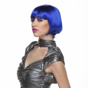 Characters Brassy Synthetic Wig - Dark Blue