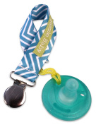 Bazzle Baby Paci Loop Pacifier Holder, Teal Chevron