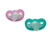 RaZbaby JollyPop Pacifier Plus, Pink/Teal