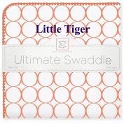 SwaddleDesigns Ultimate Swaddle Blanket, Clemson University, Little Tiger