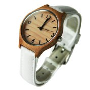 Men's Watches, Womail Bamboo Wooden Quartz PU Leather Band Strap Wrist Watch Dress for Men