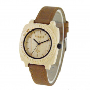 Men's Watches, Womail Natural Maple Wood Quartz PU Leather Band Strap Wrist Watch Dress for Men