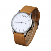 Men's Watches, Womail Fashion Stainless Steel Quartz PU Leather Band Strap Wrist Watch Dress for Men