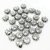 QTMY 30 PCS 2.5mm Hole Sun Beads for Jewellery Making Supplies in Bulk