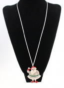 Christmas Cute Snowman Necklace Long Lucky Santa Claus Sweater Chain Necklace Jewellery