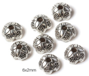 100 PCS The ancient silver bracelet beads charms