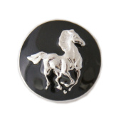 Lovmoment Horse Shape Round Snap Buttons Chunks DIY Jewellery
