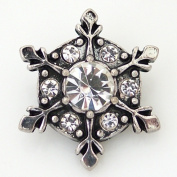 Lovmoment Christmas Snowflake Shape Snap Buttons Chunks Interchangeable Jewellery