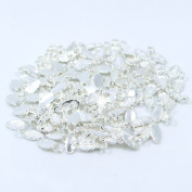 100pcs Sterling Silver Plated Fashion Jewellery Earring Bails for Glass Tile DIY Pendants Shiny Silver Glue on Bail
