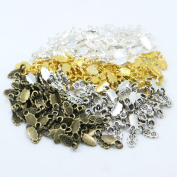 100pcs Mixed 4Color Fashion Jewellery Earring Bails for Glass Tile DIY Pendants Glue on Bail