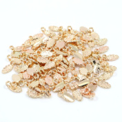 100pcs Rose Gold Colour Fashion Jewellery Earring Bails for Glass Tile DIY Pendants Glue on Bail